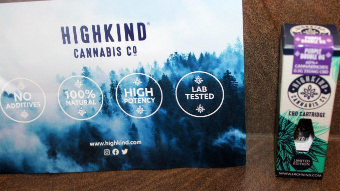HighKind Limited Edition Double Purple OG CBD Vape Cartridge Review