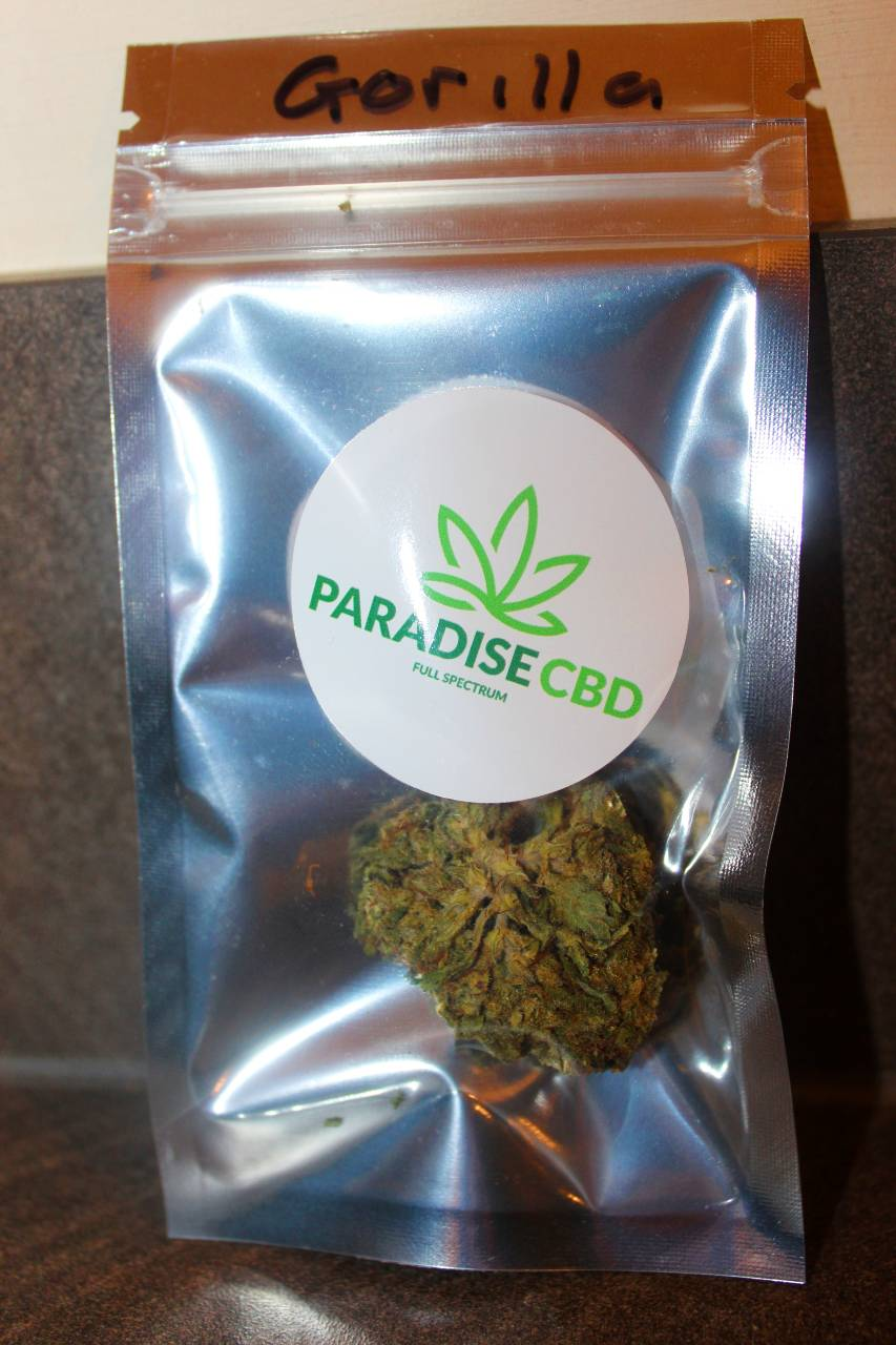 Paradise CBD - Gorilla Glue 24% CBD Flower Review