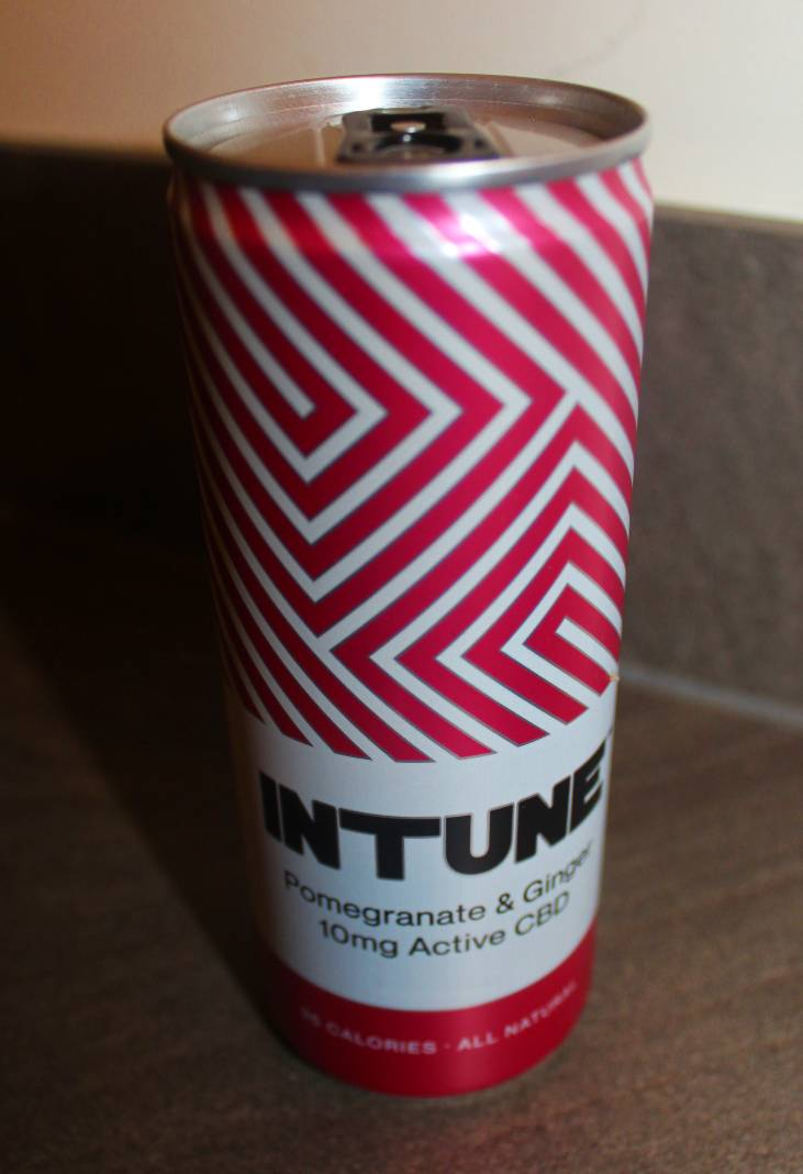 INTUNE CBD Drinks Pomegrante & Ginger Review