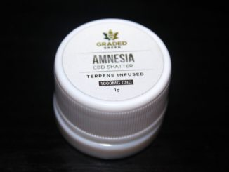 Graded Green - Amnesia 1000mg CBD Shatter Review
