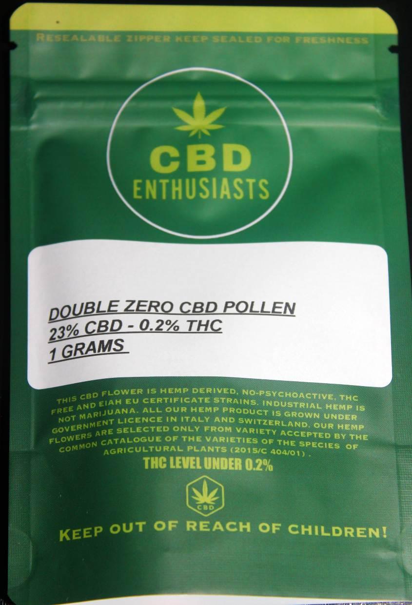 CBD Enthusiasts Double Zero CBD Pollen Review