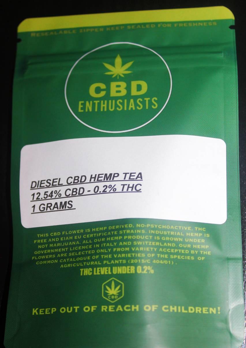 Diesel CBD Hemp Tea CBD Enthusiasts Review